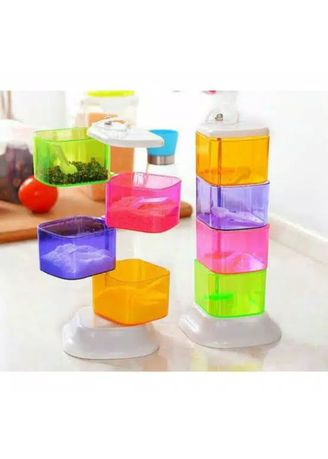 Multi color Kitchen . TEMPAT BUMBU SUSUN PUTAR 4 IN 1  -