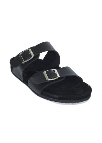 Black color Sandals and Slippers . Sandal Casual Pria Valkri Series -