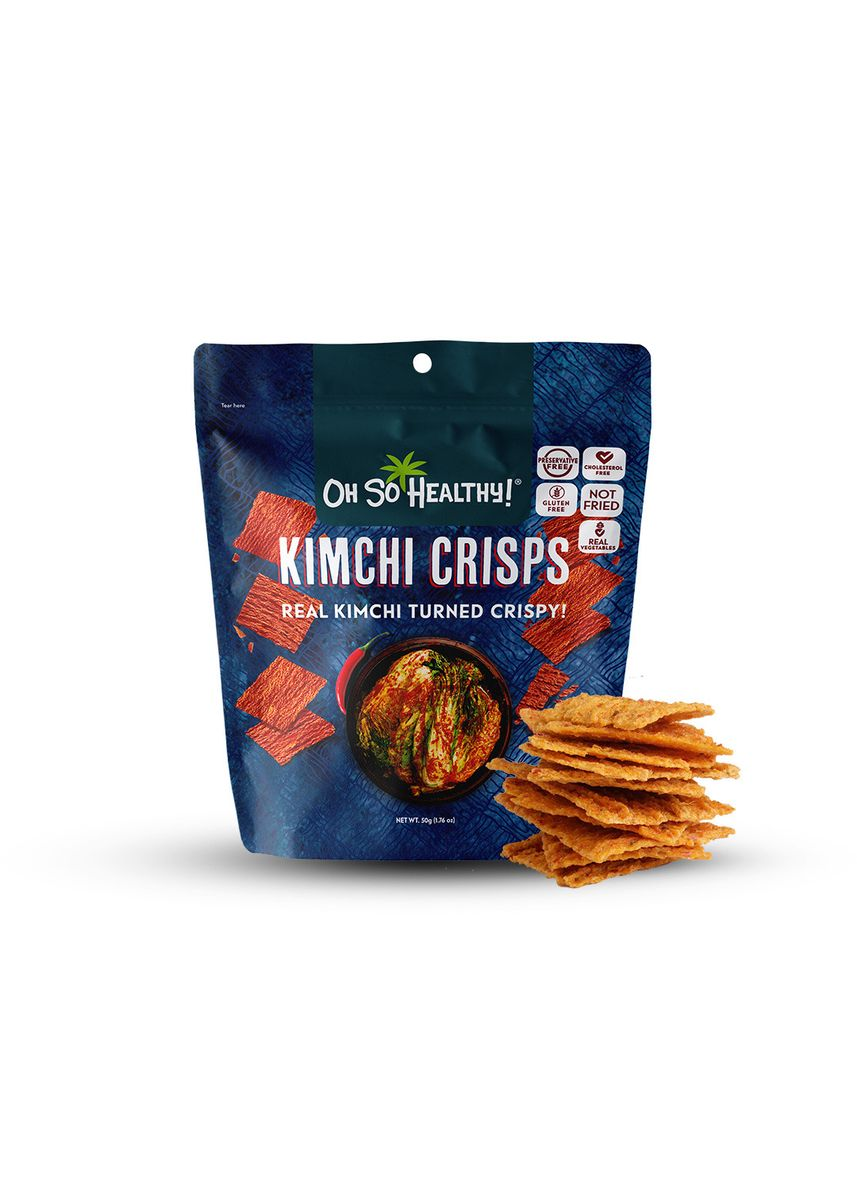 No Color color Snacks . Oh So Healthy! Assorted Fruit Crisps and Kimchi Crisps, Bundled by 6(40g Each)(50g for Kimchi) -