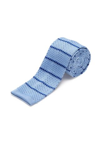 Light Blue color Ties . IDENTITY Men's Novelty Slim Hand Knitted Silk Casual Necktie -