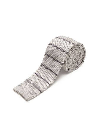 Grey color Ties . IDENTITY Men's Novelty Slim Hand Knitted Silk Casual Necktie -