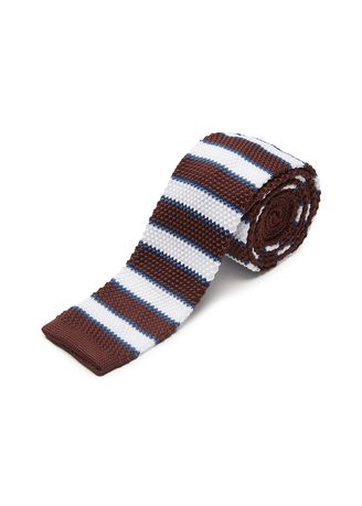 Navy color Ties . IDENTITY Men's Novelty Slim Hand Knitted Silk Casual Necktie -