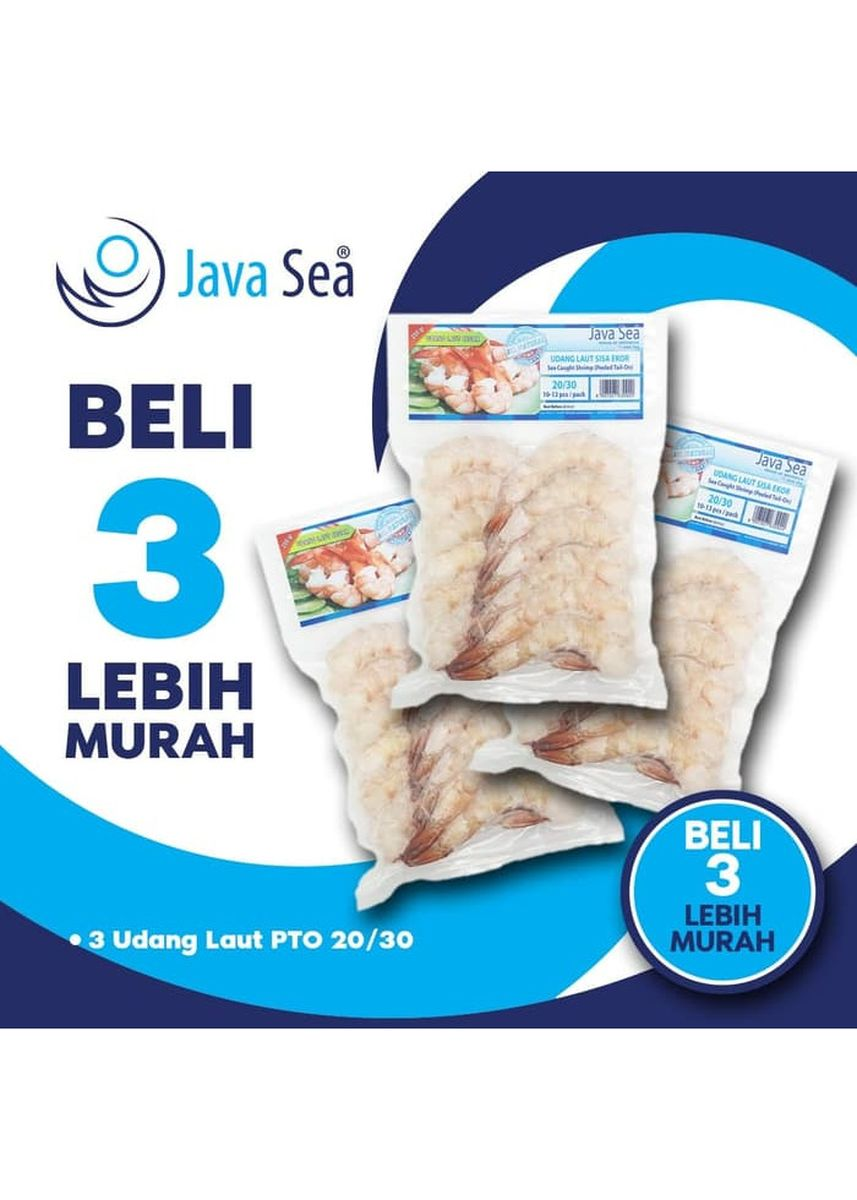 No Color color Canned Food . BELI 3 LEBIH MURAH - JAVA SEA Udang Laut Beku Sisa Ekor PTO 20/30 -