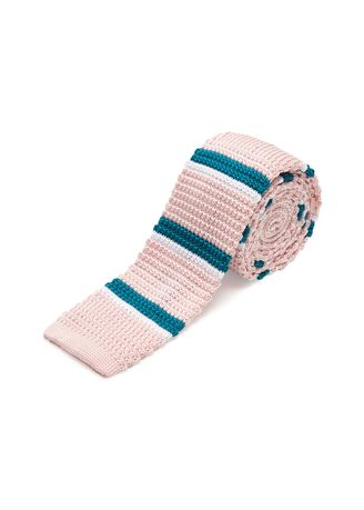 Pink color Ties . IDENTITY Men's Novelty Slim Hand Knitted Silk Casual Necktie -