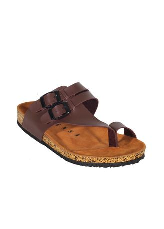 Brown color Sandals and Slippers . Alfaro Series Sepatu Strap Pria Casual Santai Outdoor -