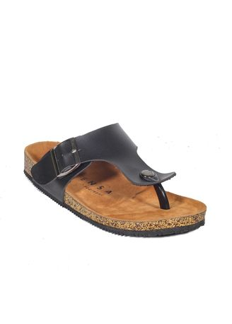Black color Sandals and Slippers . Zayn Series Sandal Jepit Pria Casual Santai Outdoor -