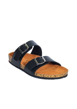 Black color Sandals and Slippers . Xander Series Sandal Jepit Strap Pria Casual Santai Outdoor -