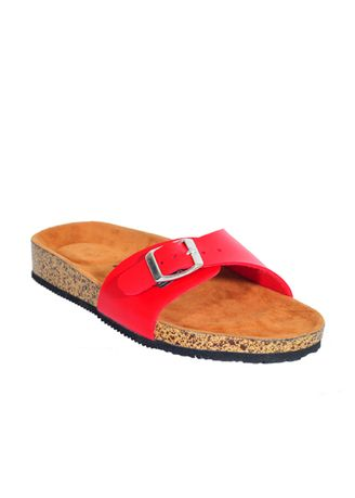 Red color Sandals and Slippers . Hestia Series  Sandal Strap Wanita Casual Santai Outdoor -