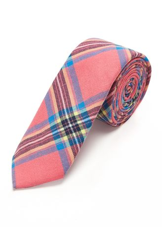 Pink color Ties . IDENTITY Men's Casual Printed Cotton Necktie -