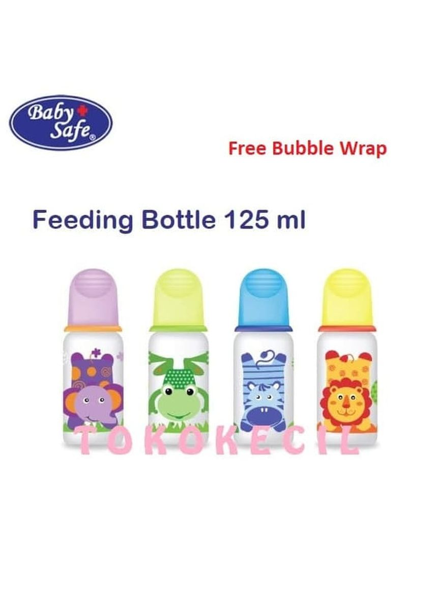 Hijau color Gelas Minum Bayi . Baby Safe Feeding Bottle 125 ml Botol Susu Bayi JS003 BabySafe - Hijau -