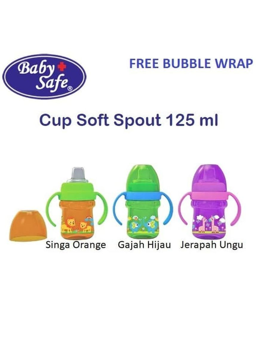 Green color Sipper & Mugs . Baby Safe AP005 Cup Silicone Soft Spout Training Cup Sippy Gelas Minum - Gajah Hijau -