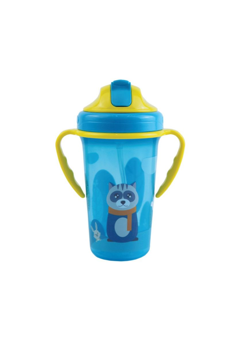 Blue color Sipper & Mugs . Baby Safe JP020 Cup With Weighted Straw 300 ml gelas minum sedotan - Biru -