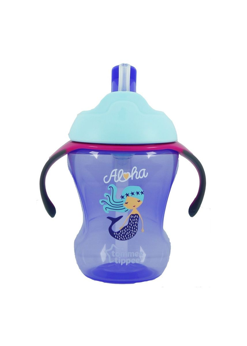 Purple color Sipper & Mugs . Tommee Tippee Trainer Straw Cup gelas minum bayi training 9M+ 230ml - Purple -