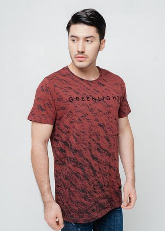 Merah color Kaus Oblong & Polo . Greenlight Men Tshirt 310520 -