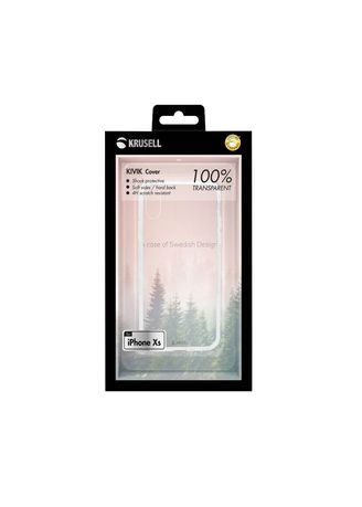 White color Cases & Covers . Krusell Kivik Cover Apple iPhone X - Transparent -