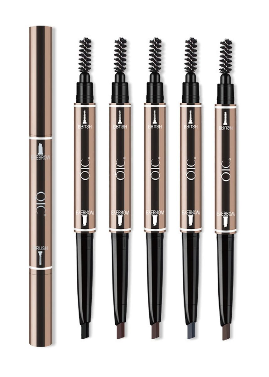 Brown color Eyes . 5PCS Set Waterproof Double-ended Eyebrow Pencil and Mascara -