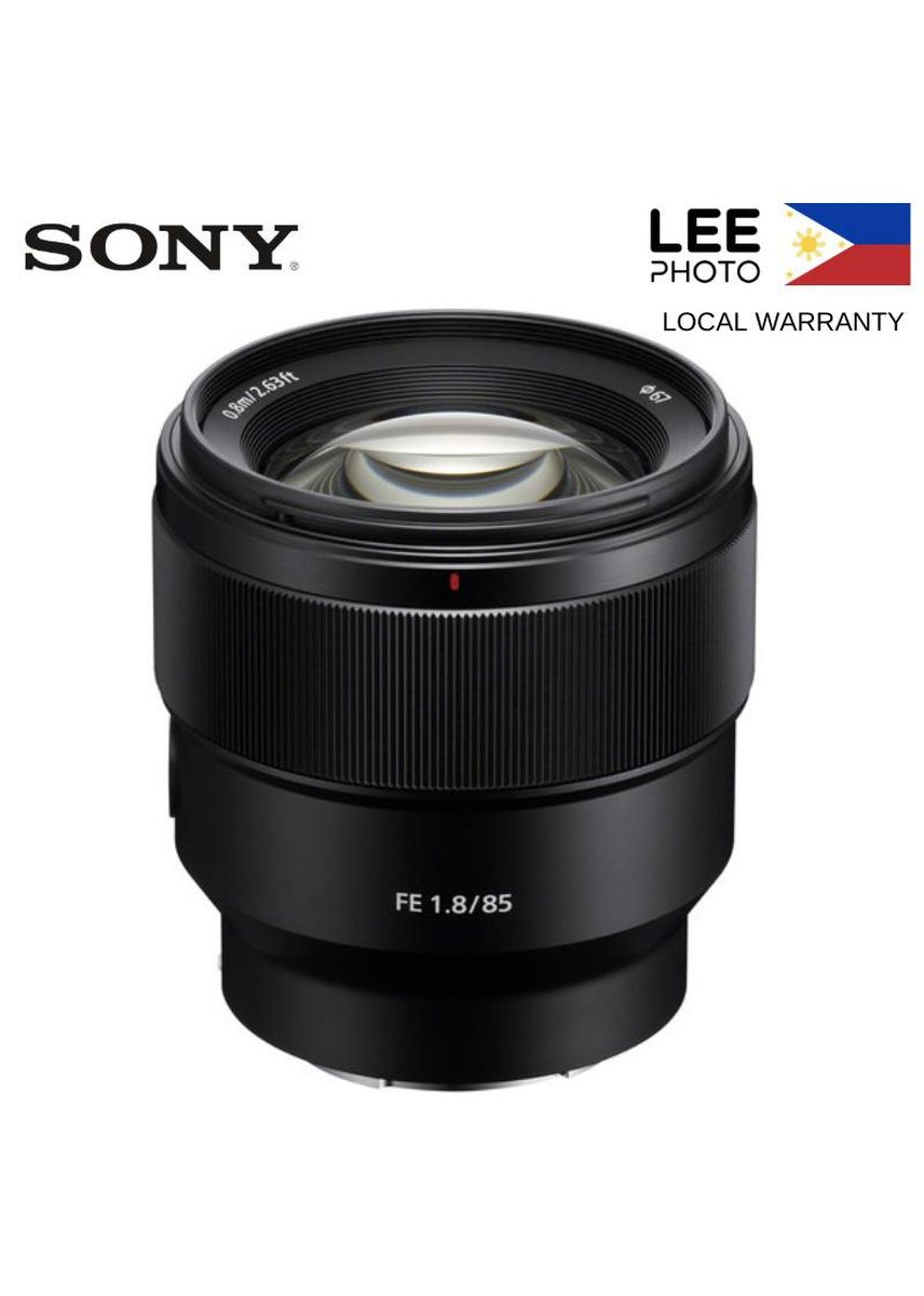No Color color  . Sony FE 85mm f/1.8 Lens SEL85F18 Full Frame -