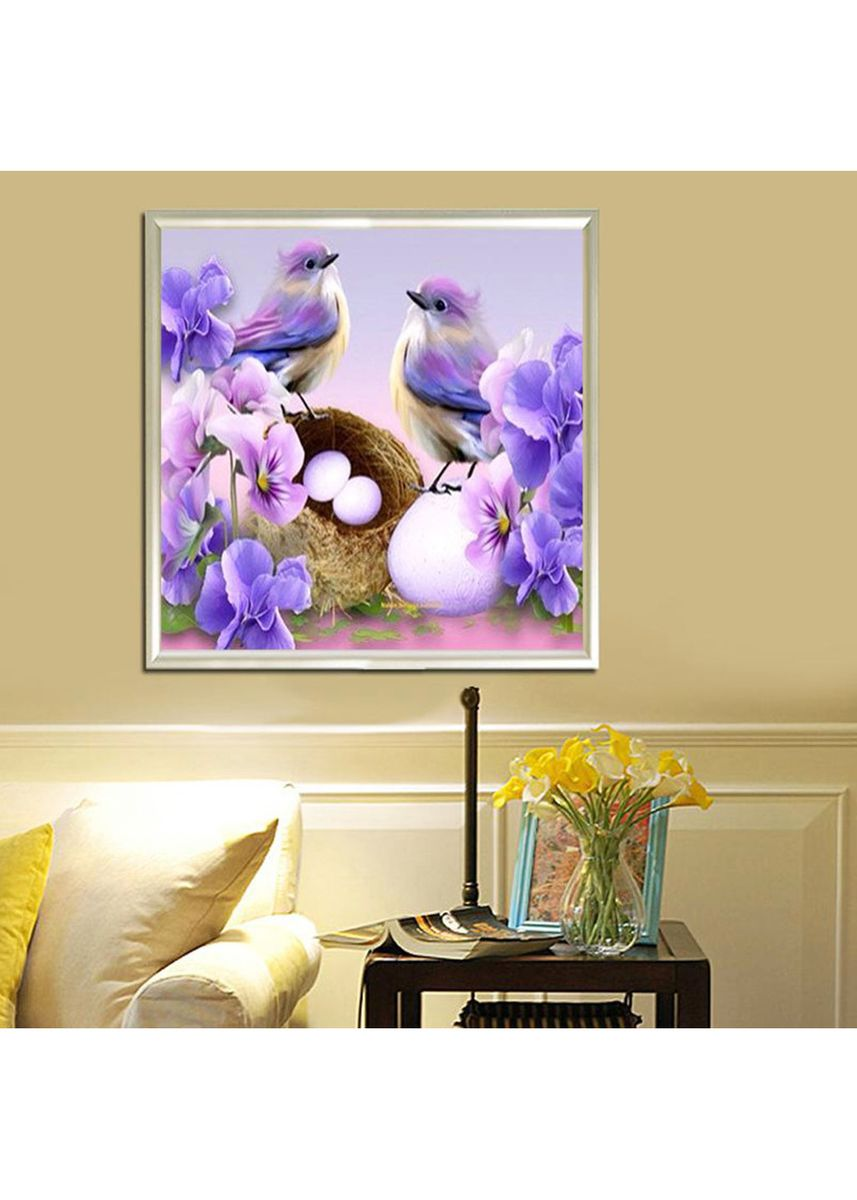 Multi color Home Decor . DIY 5D Diamond Number Birds Eggs Paint -