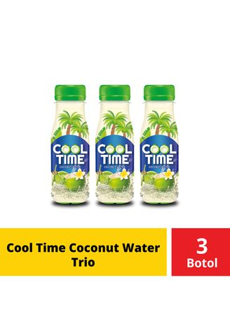 No Color color Energy Drinks . Cool Time Coconut Water Trio -