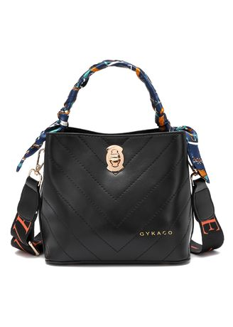 Hitam color Tas Jinjing . GYKACO TILLY - Tas Wanita Hand bag - Fashion Top Handle Bag (Import) -
