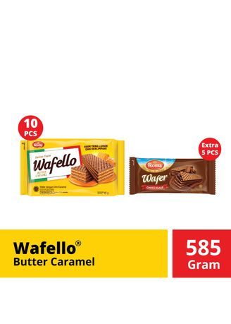 Snacks . Wafello Butter Caramel Promo 10 pcs @48 Gr -