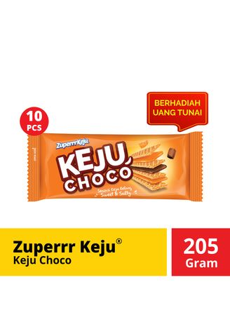 No Color color Snacks . Zuperrr Keju Choco Promo 10 pcs @20.5 Gr -