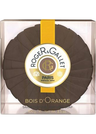 Brown color Body Bars . Roger And Gallet Bois D' Orange Soap 100G -