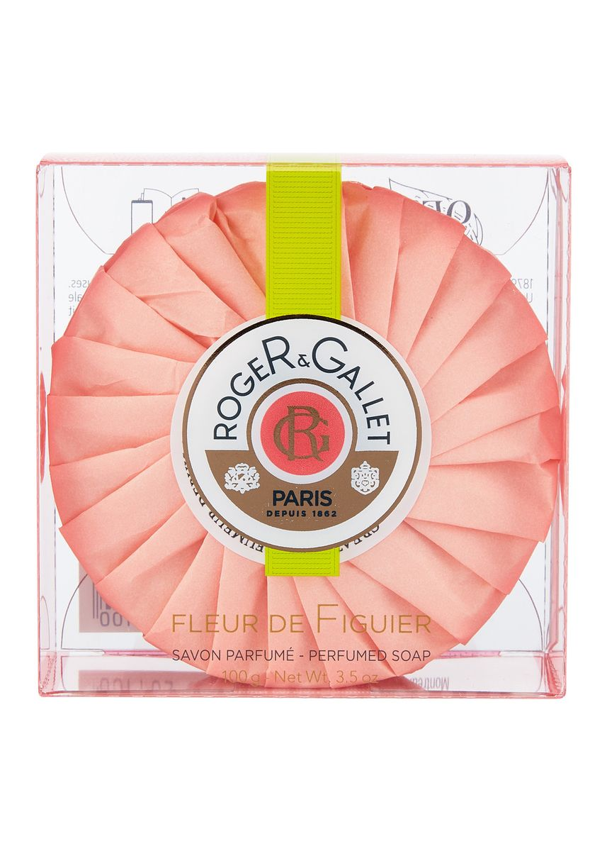 Pink color Body Bars . Roger And Gallet Fleur De Figuier Perfume Body Soap 100G -