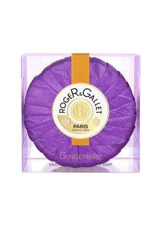 Purple color Body Bars . Roger And Gallet Gingembre Perfumed Soap 100G -
