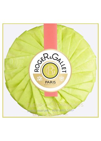 Green color Body Bars . Roger & Gallet Fleur D' Osmanthus Perfumed Soap 100G -