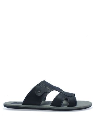 Black color Sandals and Slippers . Leather Sandals in Black -