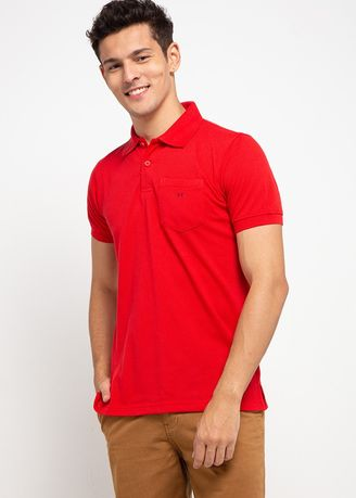Red color T-Shirts and Polos . HASSENDA KAOS POLOS LACOSTE 20S HORGEN -