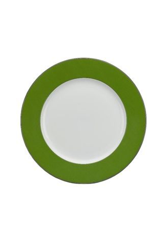 White color Kitchen . Jasmine - Flat Round Plate (28cm) -