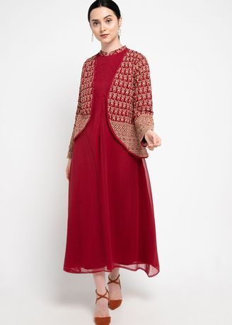 Red color Dresses . PURICIA GAMISH HAFIZHAH -