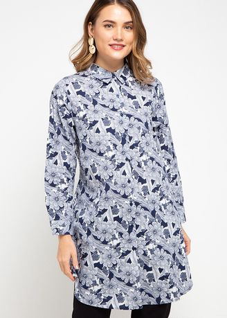 White color Tops and Tunics . PURICIA BLOUSE LUTON -