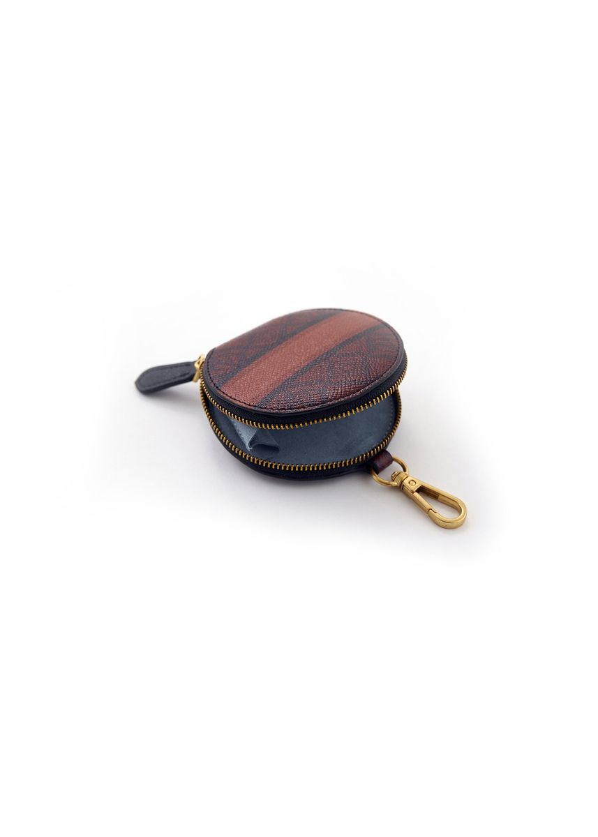 Brown color Wallets and Clutches . Monogram Coin Purse - Dark Red -