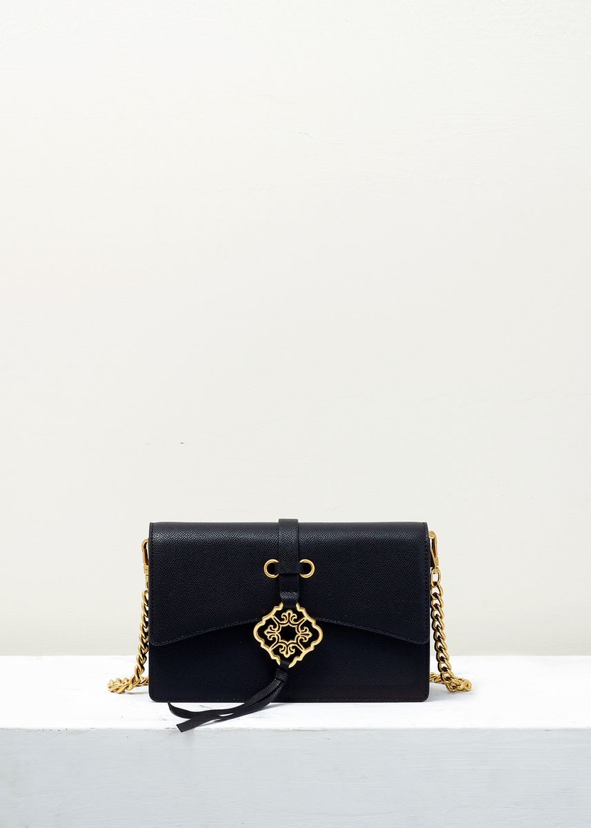 Black color Sling Bags . Heartletter Cross Body Bag -