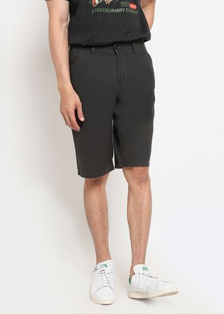 Grey color Shorts & 3/4ths . RBJ Celana Chinos Regular Fit Pria  -