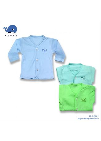 Biru color Setelan . Baju Panjang New Born -