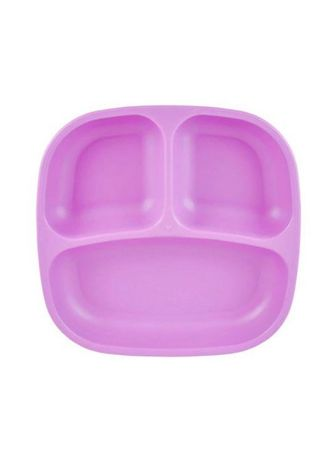 Purple color Others . Re-Play Recycled Divided Food Plate Per Piece BPA BPS Free -