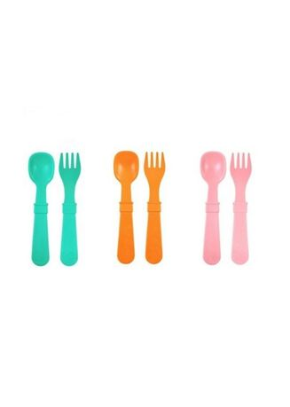 Multi color Others . Replay Recycled Sunrise 3 Pairs Toddler Spoon and Fork Set Feeding BPA BPS Free -