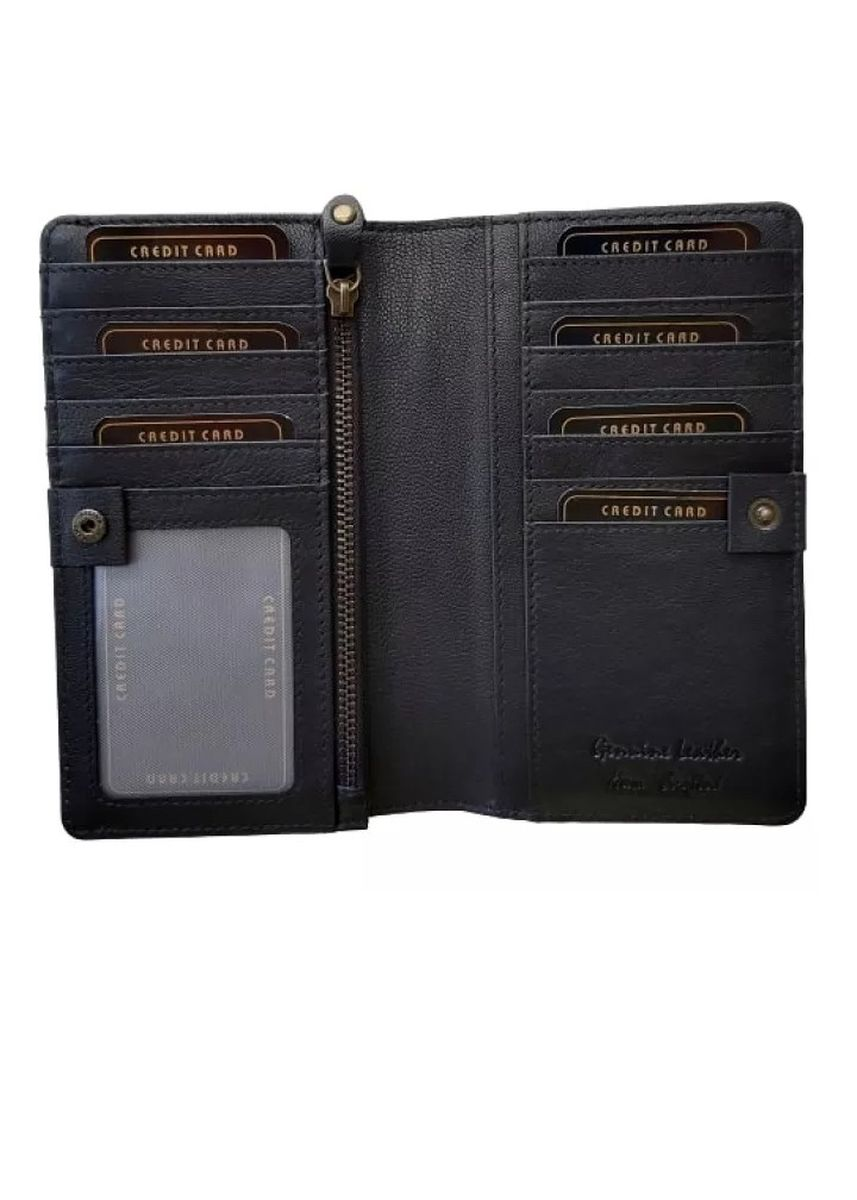 Black color Wallets and Clutches . Victorian Territory - Genuine Leather Wallet - Bifold Style 513 -