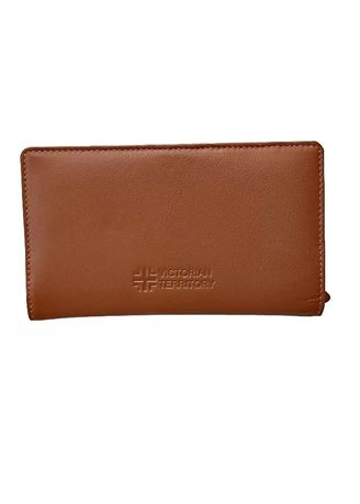 Brown color Wallets and Clutches . Victorian Territory - Genuine Leather Wallet - Bifold Style 513 -
