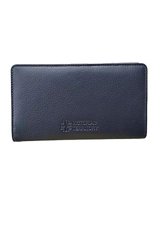 Navy color Wallets and Clutches . Victorian Territory - Genuine Leather Wallet - Bifold Style 513 -