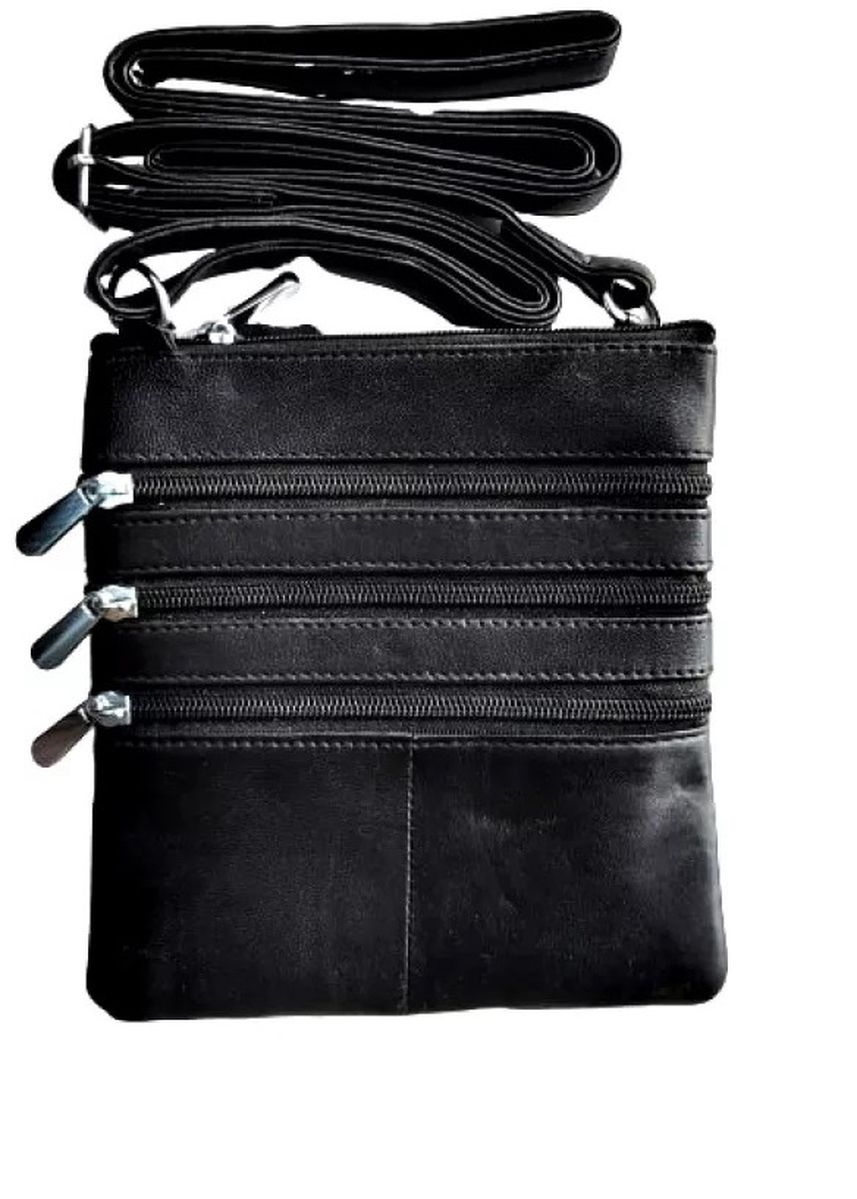 Black color Messenger Bags . Victorian Territory - Full Grain Leather Crossbody Unisex- Style 1027 -