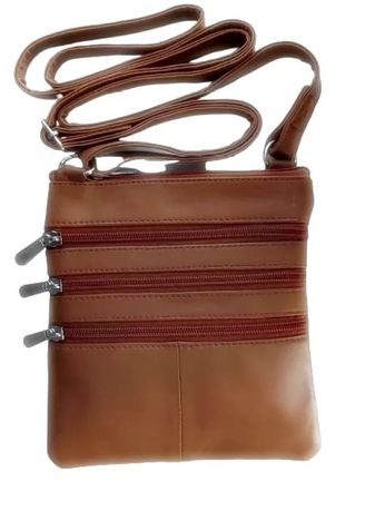 Tan color Messenger Bags . Victorian Territory - Full Grain Leather Crossbody Unisex- Style 1027 -