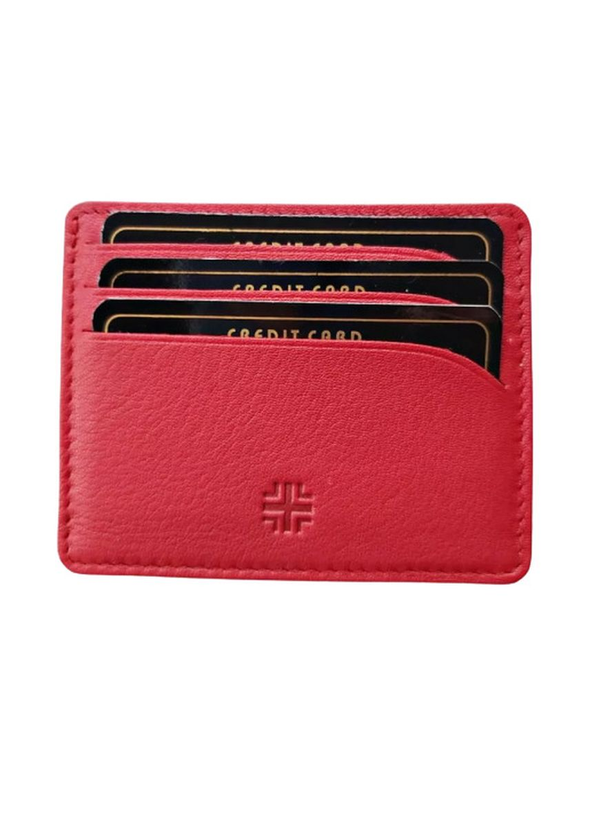 Red color Wallets . Victorian Territory Full Grain Genuine Leather  Card Holder - Style 507 -