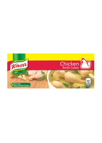 No Color color Bouillon, Stock & Flavored Seasoning . Knorr Cubes Savers Chicken 120g -