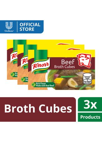 No Color color Bouillon, Stock & Flavored Seasoning . Knorr Cubes Savers Beef 120g x3 -