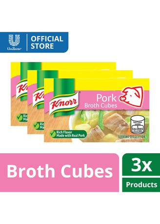 No Color color Bouillon, Stock & Flavored Seasoning . Knorr Cubes Saver Pork 120g x3 -